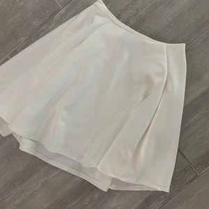 Tobi White Skater Skirt